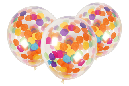 Ballons confettis - Lot de 6 - Ballons, guirlandes, serpentins – 10doigts.fr