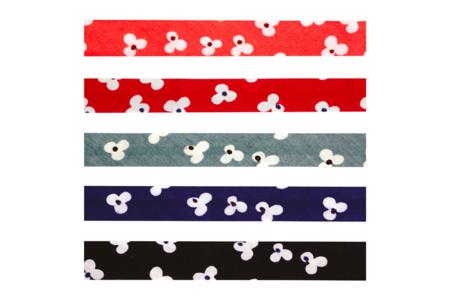 Biais coton fleurs - Set de 5 - Rubans, cordons – 10doigts.fr