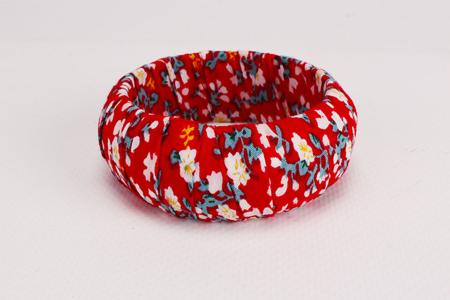 Biais coton Liberty rouge - Set de 5 - Rubans, cordons – 10doigts.fr