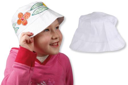 Bob en coton blanc - taille enfant - Coton, lin – 10doigts.fr