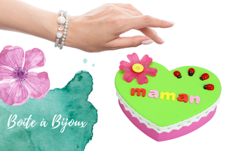 Boite à bijoux coeur - Fête des Mères – 10doigts.fr
