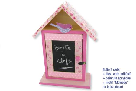 Armoire à clefs en bois avec peinture ardoise - Armoires et étagères – 10doigts.fr