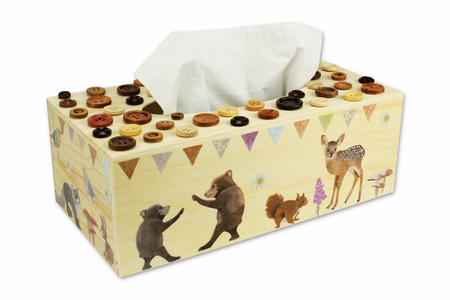 Boîte à mouchoirs animaux de la forêt - Boîtes, coffrets, plateaux – 10doigts.fr