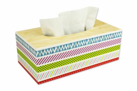 Boîte à mouchoirs masking tape - Boîtes, coffrets, plateaux – 10doigts.fr