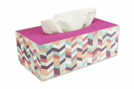 Boîte à mouchoirs aux motifs géométriques - Boîtes, coffrets, plateaux – 10doigts.fr