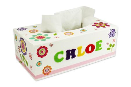 Boîte à mouchoirs fleurie - Boîtes, coffrets, plateaux – 10doigts.fr
