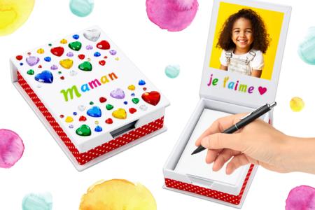 Une jolie boîte à notes pour maman - Fête des Mères – 10doigts.fr
