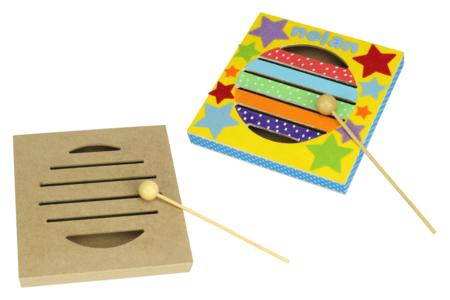 Boîte à rythme en bois + maillet - Instruments de musique – 10doigts.fr