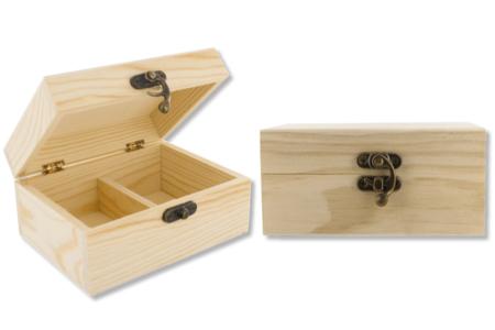 Boîte à thé en bois - Boîtes et coffrets – 10doigts.fr