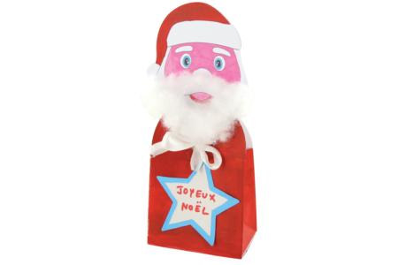Boîte Père Noël en carte forte blanche - Coloriages – 10doigts.fr
