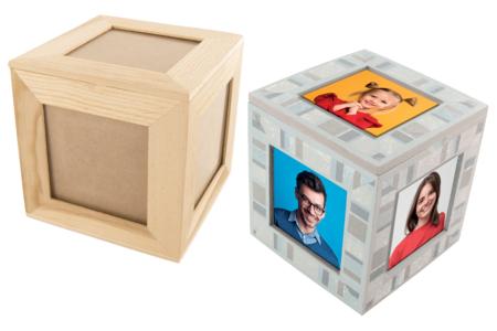 Boîte cube pour 5 photos - Cadres photos – 10doigts.fr
