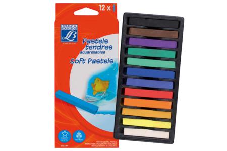 Pastels tendres aquarellables LEFRANC BOURGEOIS - Boîte de 12 - Pastels et Fusains – 10doigts.fr