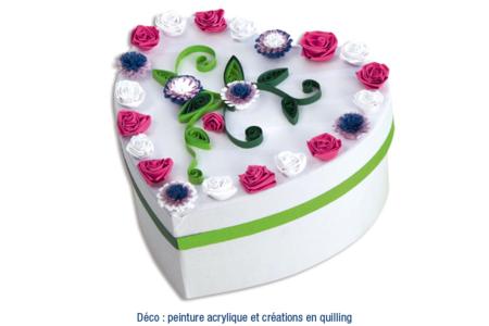 Boîte coeur en Quilling - Boîtes, coffrets, plateaux – 10doigts.fr