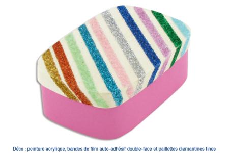 Boîte en copeaux de bois Déco pailletée ou sablée - Boîtes, coffrets, plateaux – 10doigts.fr