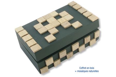 Mosaïques bois naturelles - 500 pièces - Mosaïques bois – 10doigts.fr