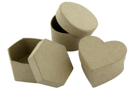 Boîtes en carton  - 3 formes assorties - Boîtes en carton – 10doigts.fr