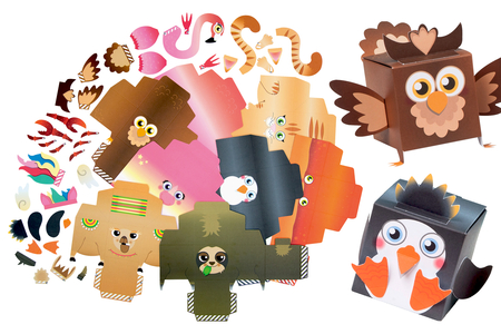 Boites animaux rigolos - Set de 8 - Boites cadeaux – 10doigts.fr