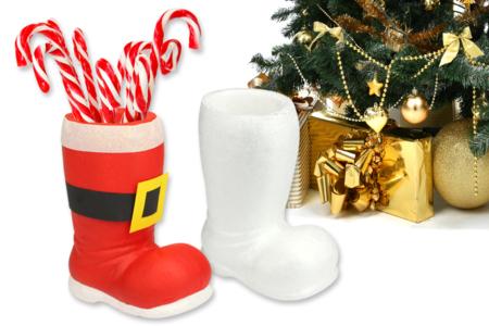 Botte de Père Noël en polystyrène - Supports en Polystyrène – 10doigts.fr
