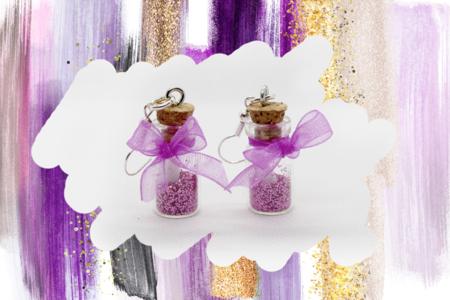 Fioles en verre - Lot de 6 - Perles intercalaires & charm's – 10doigts.fr