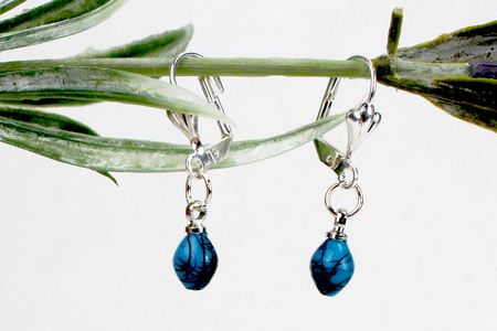 Boucles d'oreilles Turquoise - Bijoux – 10doigts.fr