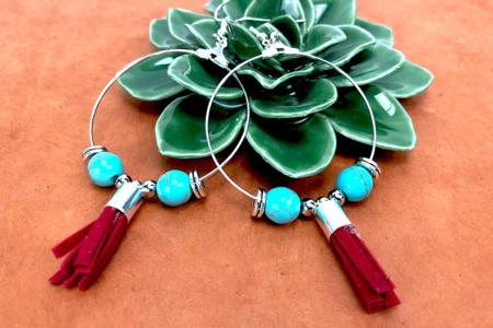 Perles Turquoise - set de 48 - Perles Lithothérapie – 10doigts.fr