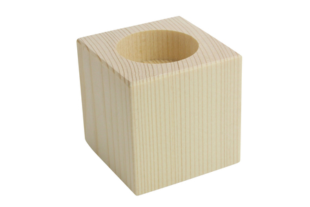 Bougeoir cubique en bois, pour bougie chauffe plat - Bougeoirs, photophores – 10doigts.fr
