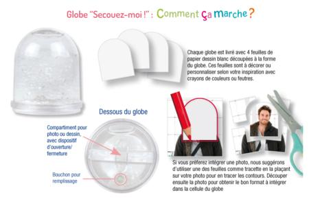Boule à neige Fête des mères ou Fête des pères - Fête des Mères – 10doigts.fr