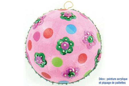 Boule pailletée - Noël – 10doigts.fr
