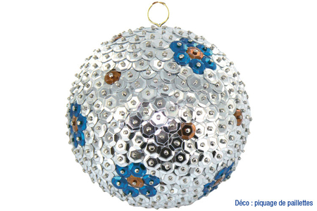 Boules pailletées pour les fêtes - Noël – 10doigts.fr