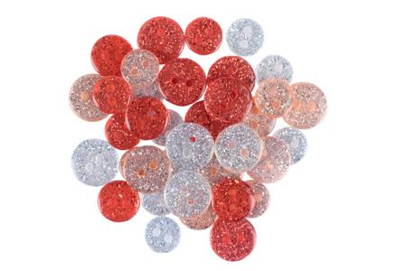 Boutons pailletés camaïeu rouge - Set de 36 - Boutons – 10doigts.fr