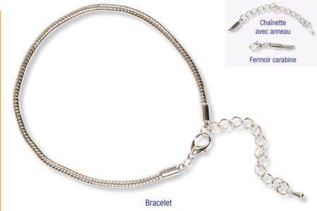 Bracelet pour perles à gros trous, type Pandora - Bracelets – 10doigts.fr