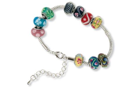 Collier argenté pour perles à gros trous, type Pandora - Colliers – 10doigts.fr