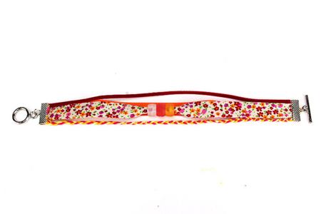 Biais coton Liberty rouge - Set de 5 - Rubans et cordons – 10doigts.fr