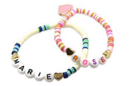 Perles intercalaires cœur or et argent - 100 perles - Perles intercalaires & charm's – 10doigts.fr