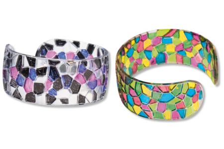 """Bracelet cristal """"mosaïques"""" à décorer - Transparent – 10doigts.fr"""