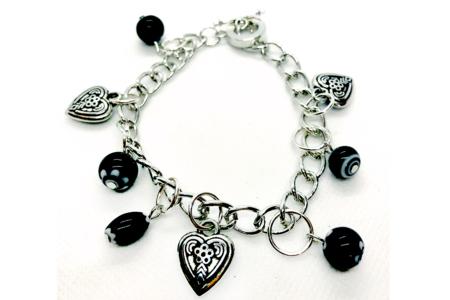 Bracelet argenté, avec fermoir - Bracelets – 10doigts.fr