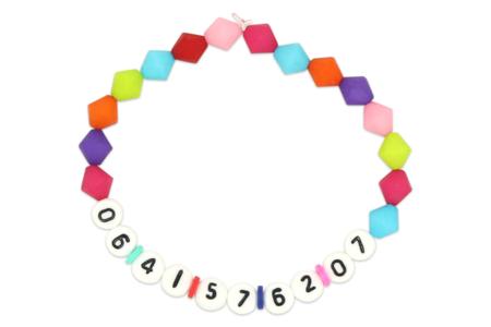 Bracelet numéro de téléphone - Activités enfantines – 10doigts.fr
