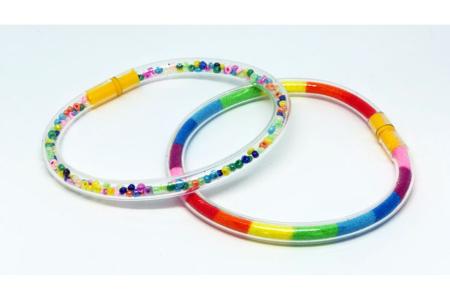 Bracelets tube à remplir- Lot de 6 - Vive l'été ! – 10doigts.fr