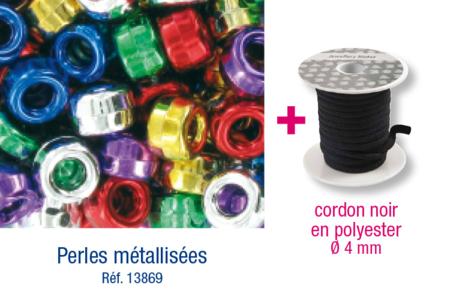Bracelets cordon satin épais + perles - Activités enfantines – 10doigts.fr