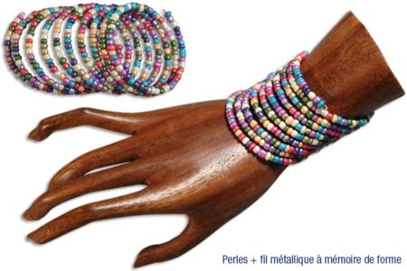 Bracelets en grosses perles de rocaille - Bijoux – 10doigts.fr