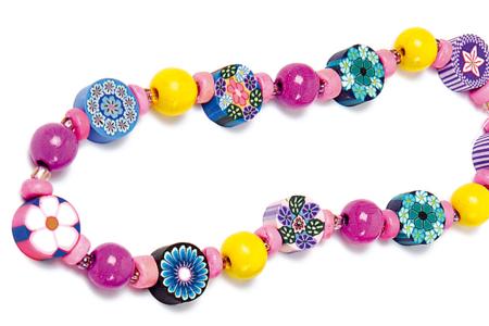 Bracelets en perles en pâte polymère millefloris - Bijoux – 10doigts.fr