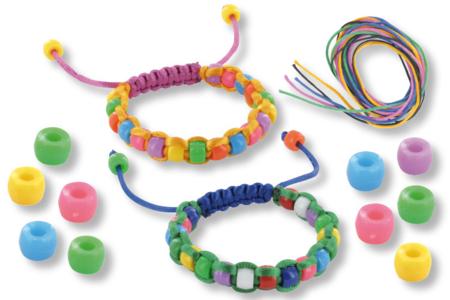 Bracelets Shamballa avec perles en plastique - Bijoux – 10doigts.fr