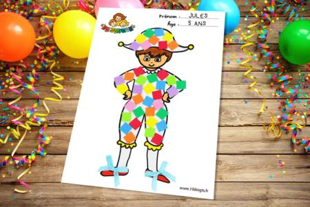 Bricolage Arlequin à décorer Enfant - Tête à Modeler