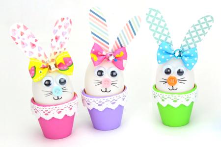 Lapin de Pâques dans son pot en terre cuite - Pâques – 10doigts.fr