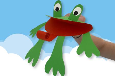 Marionnette grenouille en papier - Activités enfantines – 10doigts.fr