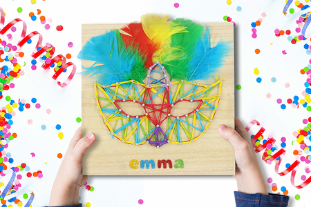 String Art : Masque de carnaval - Carnaval, fêtes, masques – 10doigts.fr