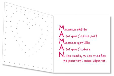 Kit Cartes coeur à broder - 12 cartes - Cartes et poèmes de fêtes – 10doigts.fr