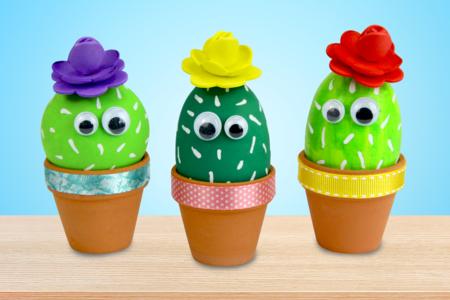 cactus bricolage facile enfant été - Tête à Modeler