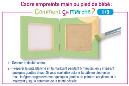 Cadre pliable pour empreinte main ou pied de bébé et photo - Baptêmes, mariages – 10doigts.fr