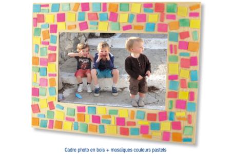 Mosaïques en bois couleurs pastel - 500 pièces - Mosaïques bois – 10doigts.fr